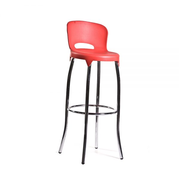 Asteroid-Bar-Stool----Red