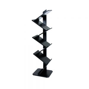 Brochure-Stand--Wooden-Black