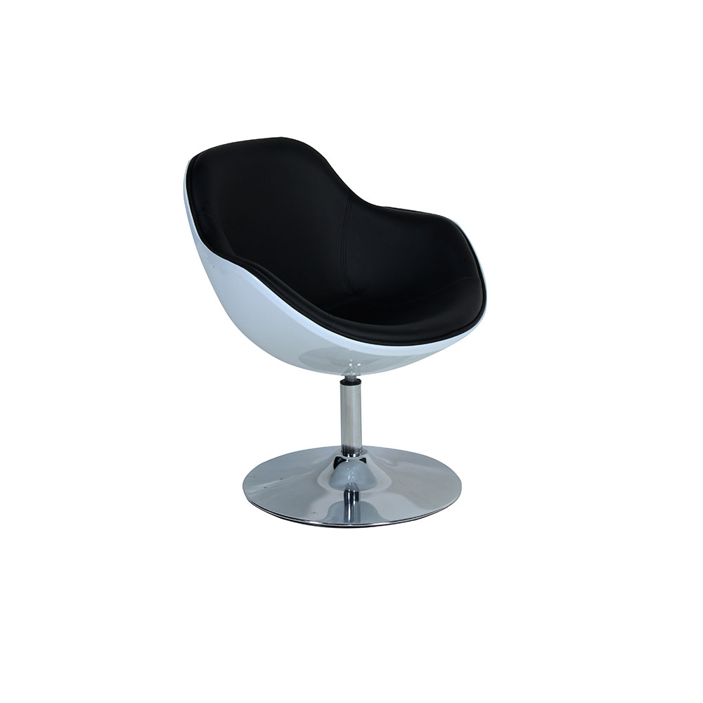 Bucket chair white with black inner unik furniture hire for White bucket dining chairs
