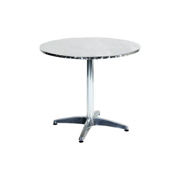 Cafe-Table-Round---Stainless-Steel