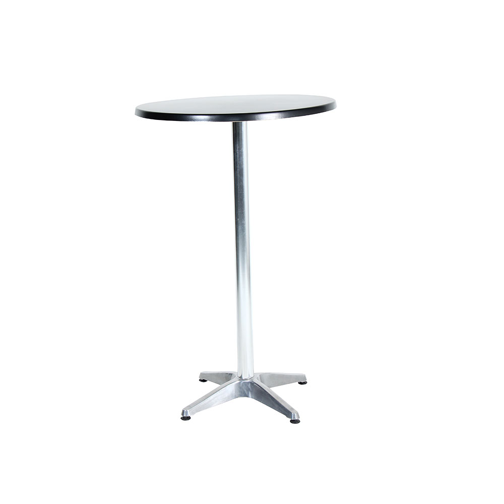 Cocktail table round black unik furniture hire for Cocktail tables for sale in kzn