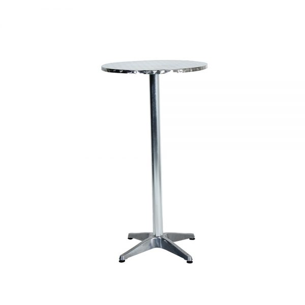 Cocktail-Table---Round---Stainless-Steel