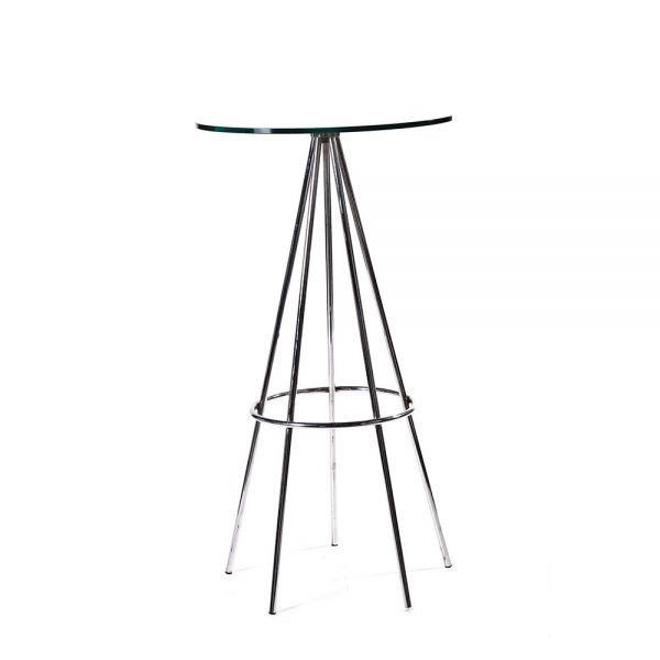 Pyramid cocktail table glass unik furniture hire for Cocktail tables hire durban