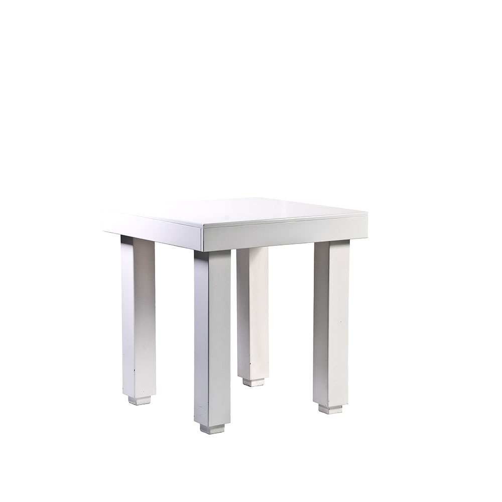 Quadro cafe table white unik furniture hire durban for Cocktail tables hire durban