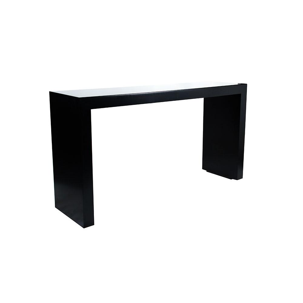 Rectangular cocktail bench black unik furniture hire for Cocktail tables hire durban