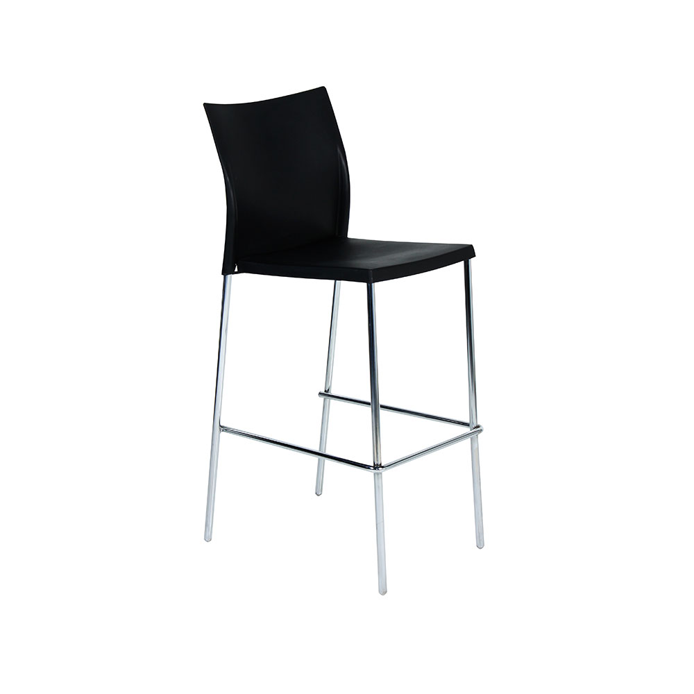 Regis Bar Stool Black Unik Furniture Hire Durban