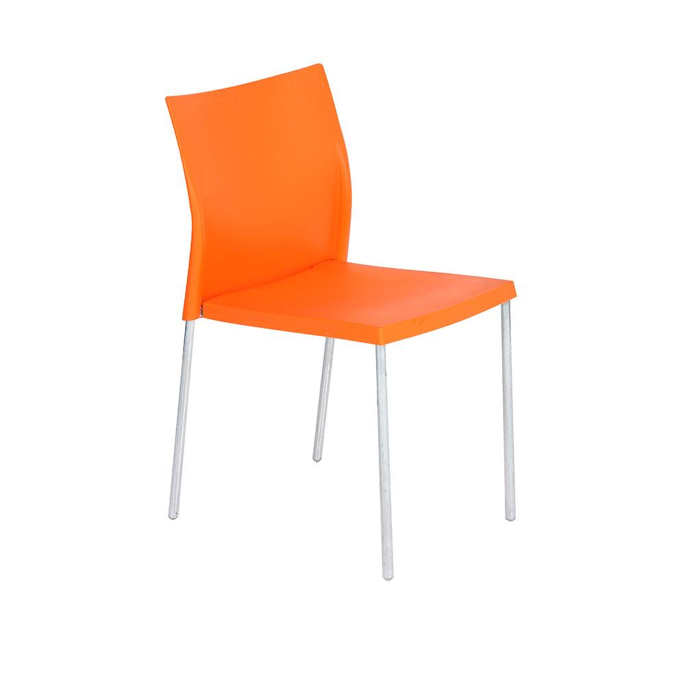regis cafe chair orange unik furniture hire durban kwazulu natal