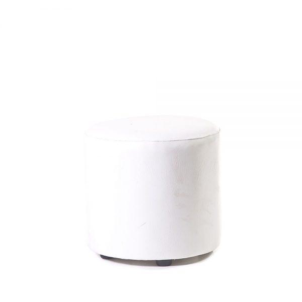 Round-Ottoman-White
