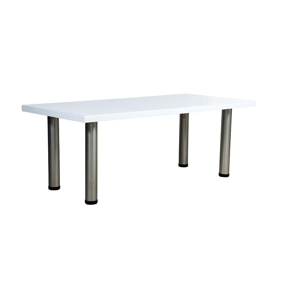 Standard Coffee Table White Unik Furniture Hire Durban Kwazulu Natal