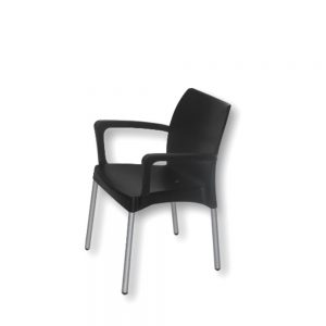 Star-Chair---With-Arms---Black
